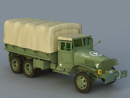 GMC Army Truck 3D model
