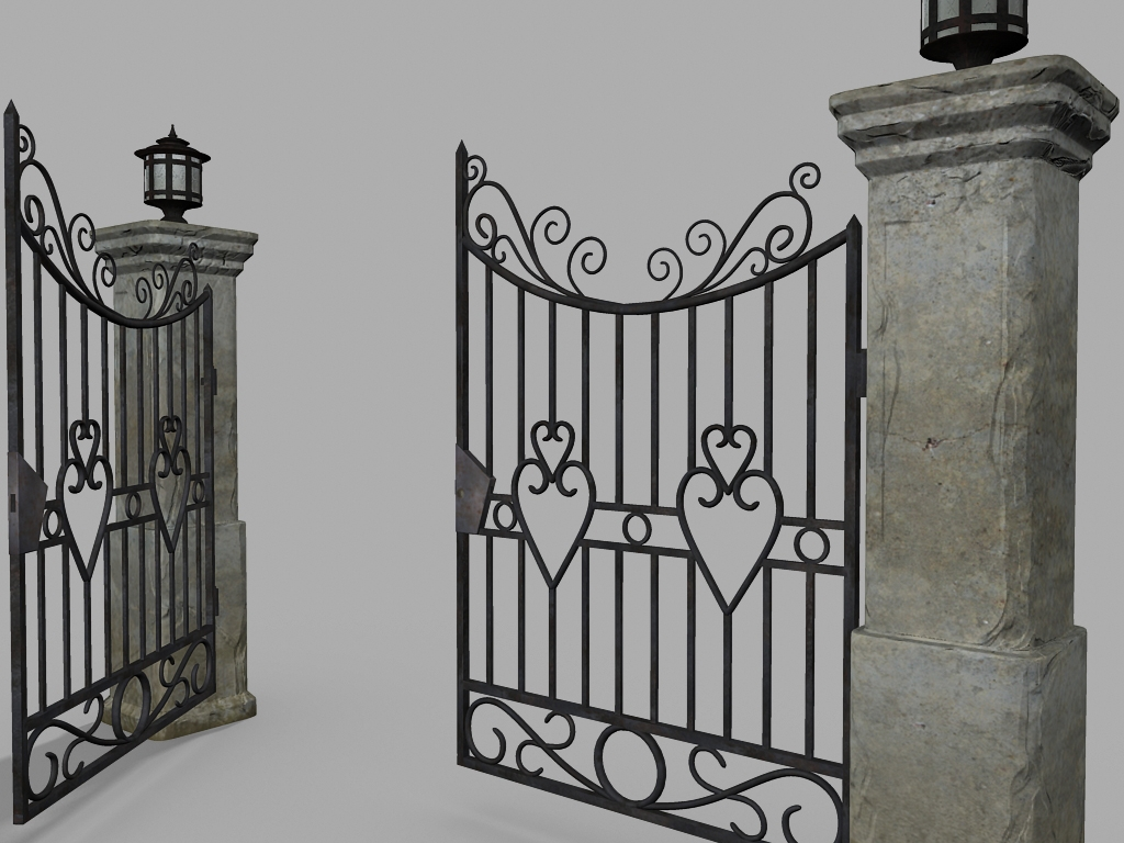 Gate Old 3D model
