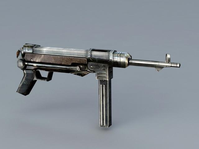 German submachine gun MP40 3D model