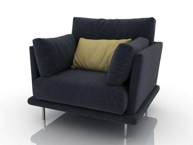 Gray armchair 3D model
