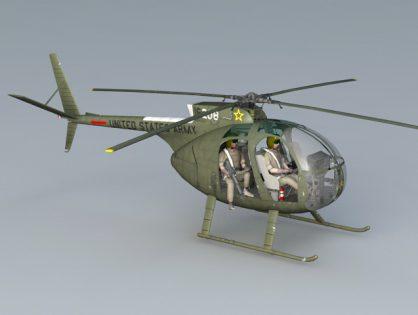 Hughes OH-6 Cayuse 3D model