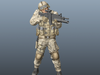 Marine Special Forces Soldier 3D model