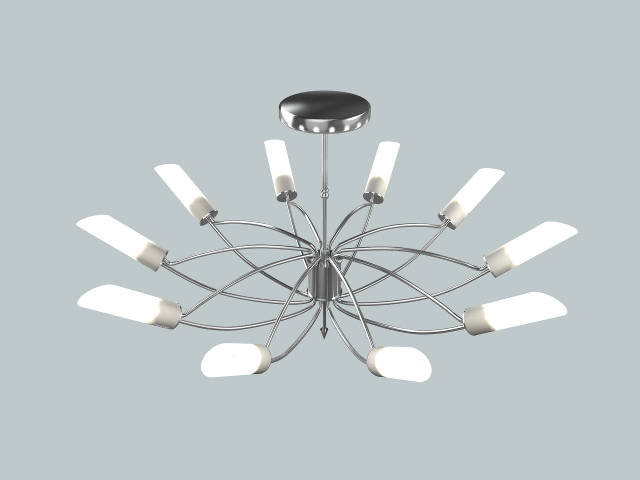 Modern chandelier 3D model