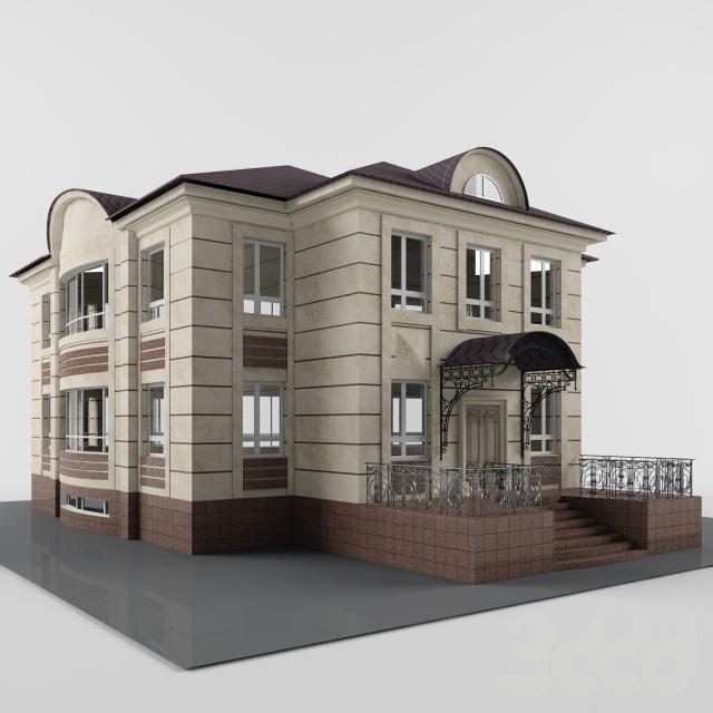 Modern classic cottage 3D model