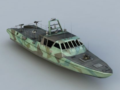 Navy Patrol Boat 3D model