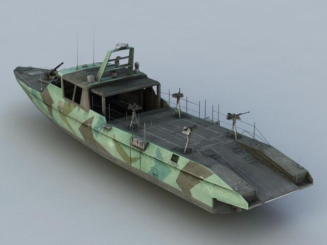 Navy Patrol Boat  3D model