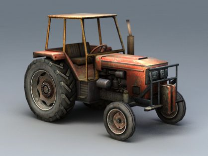 Old Farm Tractor 3D model