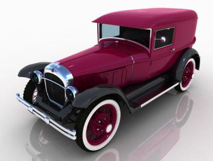 Pearce vintage car 3D model