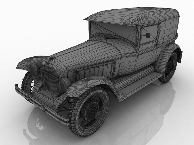 Pearce vintage car 3D model