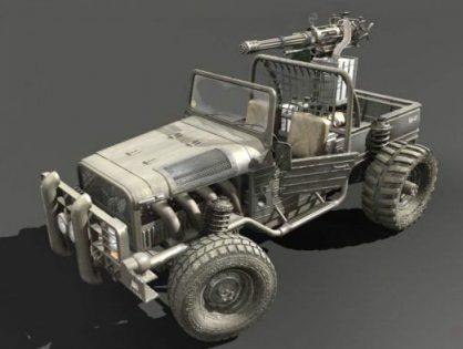Pickup Truck Gun 3D model
