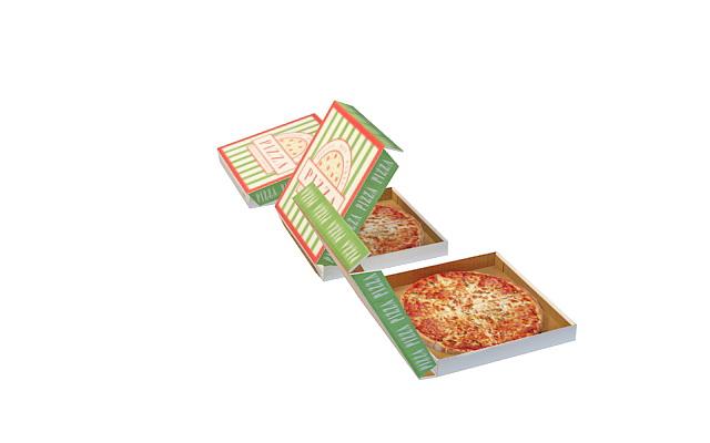 Pizza in box 3D model