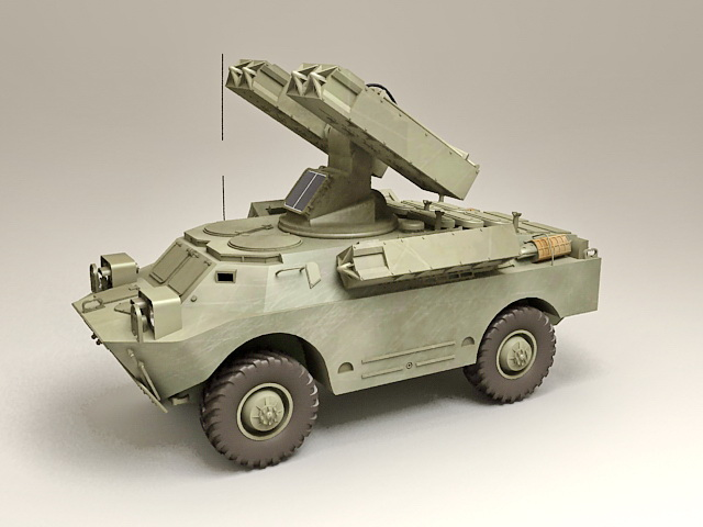 SA-9 Gaskin mobile anti-aircraft missile system 3D model