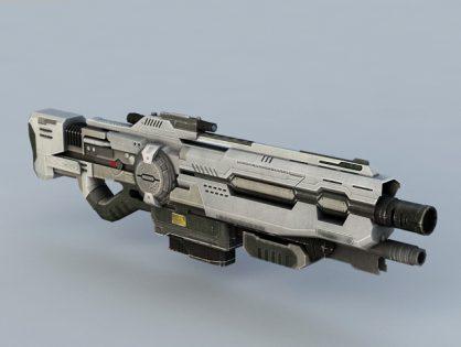 Sci-Fi Shotgun 3D model