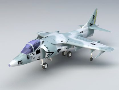 Sea Harrier 3D model