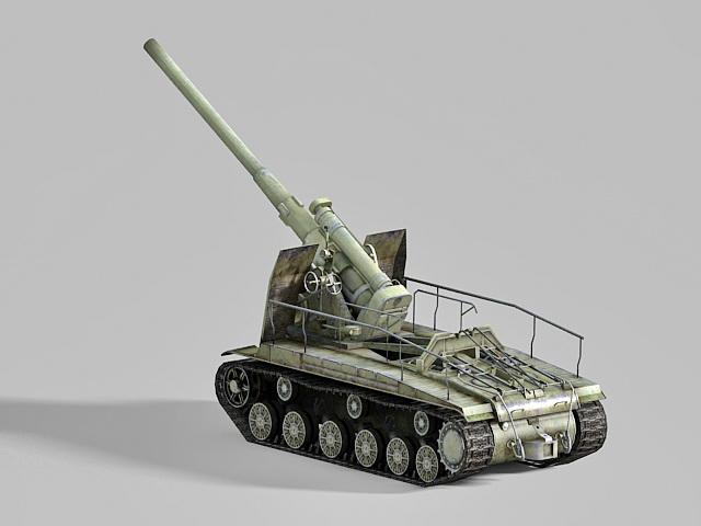Self-propelled artillery  3d model