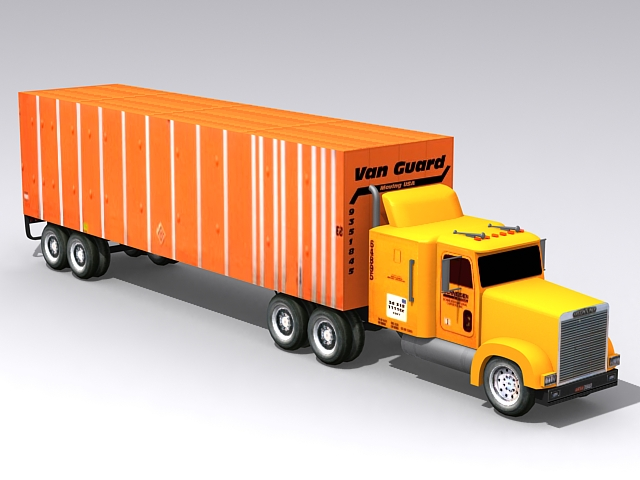 Container Truck 3d Model Free Download