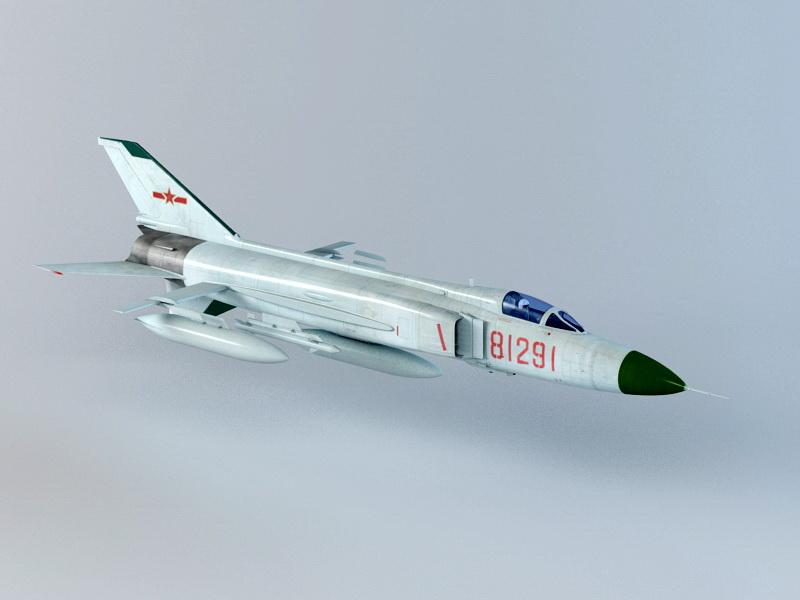 Shenyang J-8 3D model