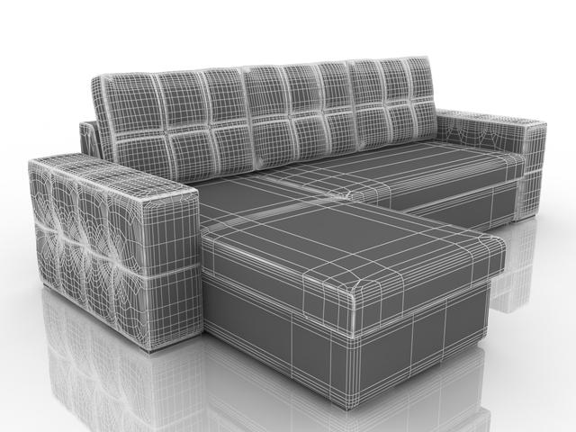 Small corner sofa 3D model