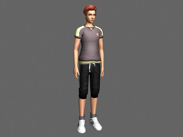 Sport guy 3D model