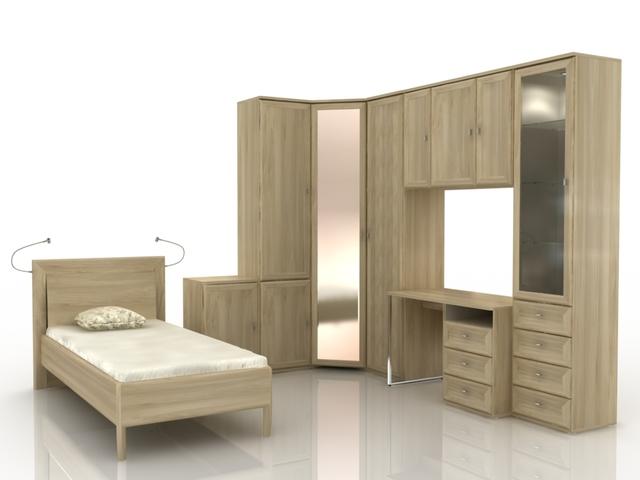 Teenage Furniture set 3D model