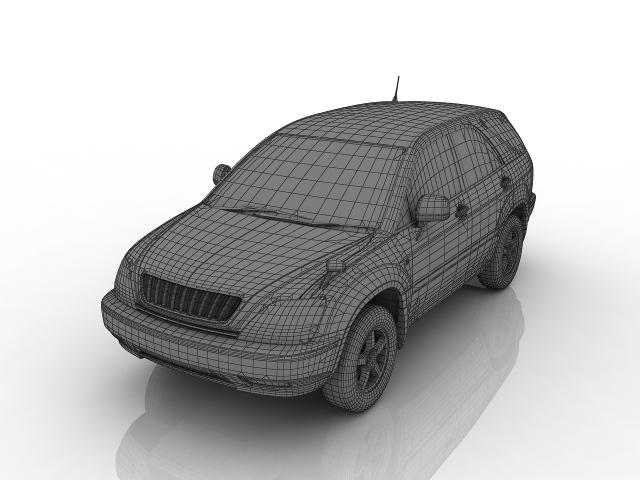 Toyota Harrier 3D model
