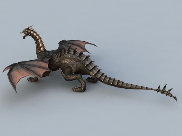 Evil Black Dragon 3d model