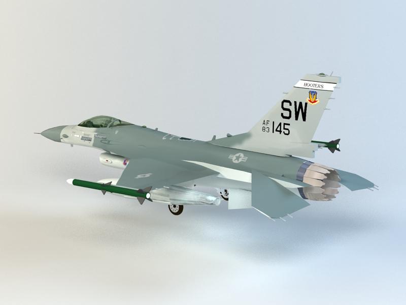 General Dynamics F-16 Fighting Falcon 3D model