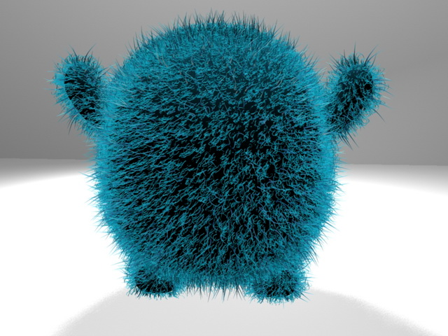 Plush Monster 3D model