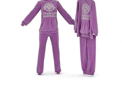 Purple sportswear sets 3D model