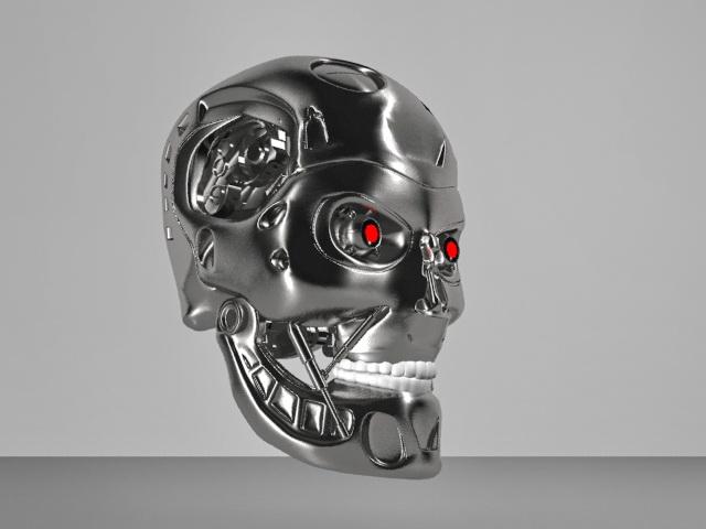 Terminator Head Skull 3D model