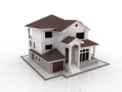 White Cottage 3D model